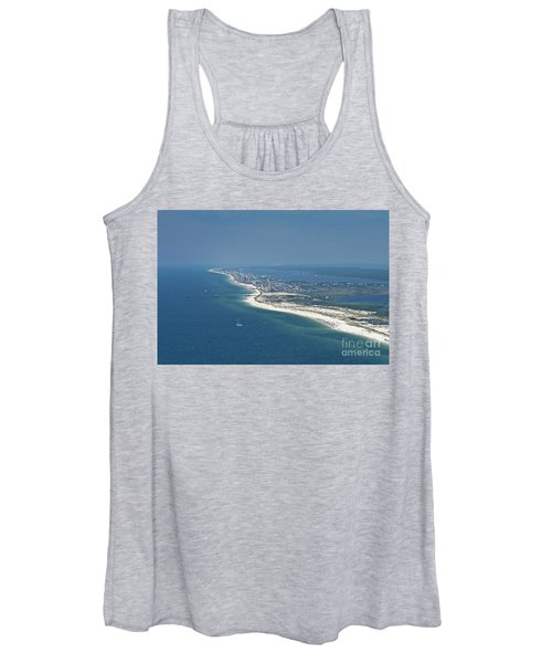 Long, Aerial, Beach View Women's Tank Top