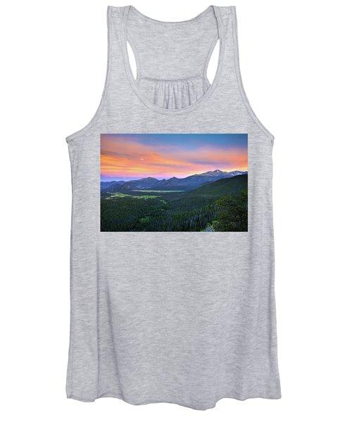 Longs Peak Sunset Women's Tank Top