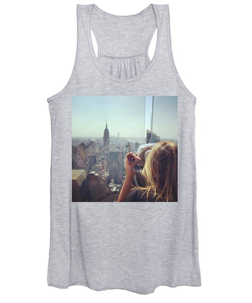 Looking Downtown In Style. #nyc Women's Tank Top