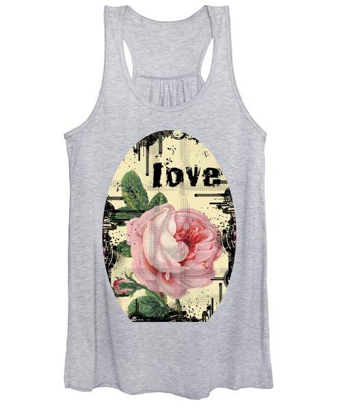 Love Grunge Rose Women's Tank Top