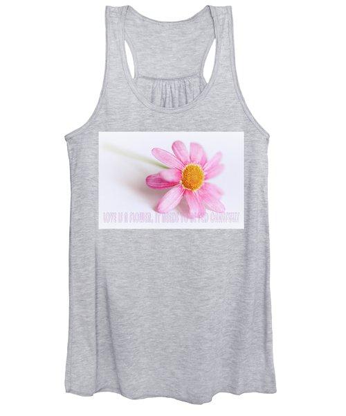 Love Is A Flower Women's Tank Top