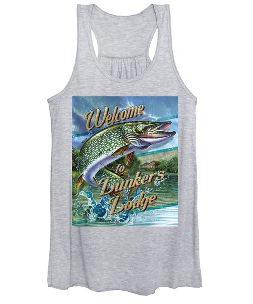 Lunkers Lodge Sign Women's Tank Top