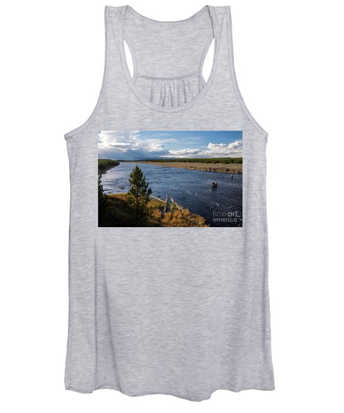 Madison River In Yellowstone National Park Women's Tank Top