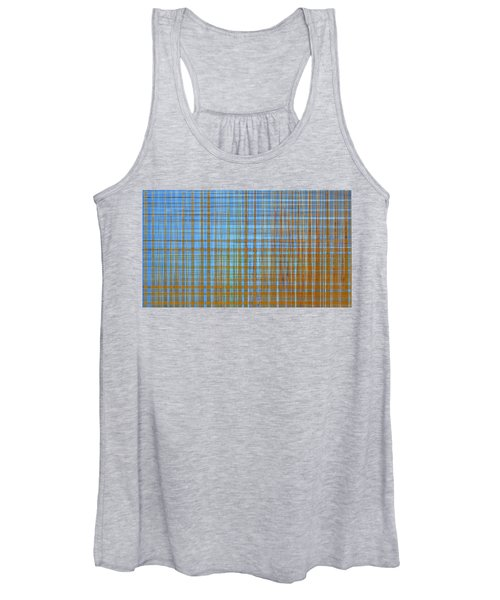 Women's Tank Top featuring the digital art Madras Plaid by Gina Harrison