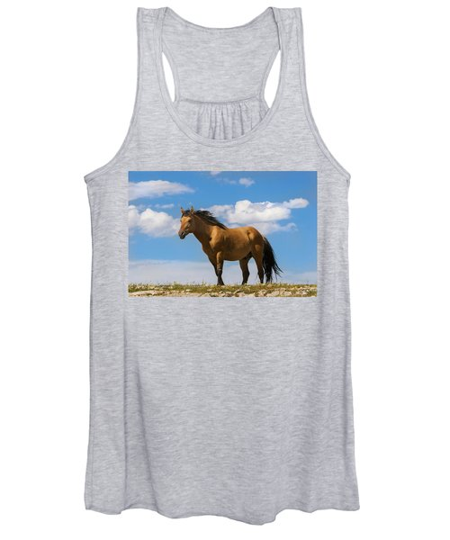 Magnificent Wild Horse Women's Tank Top