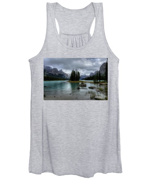 Maligne Lake Spirit Island Jasper National Park Alberta Canada Women's Tank Top