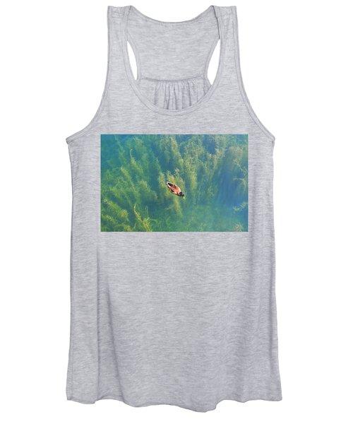Mallard Over Seaweed Women's Tank Top
