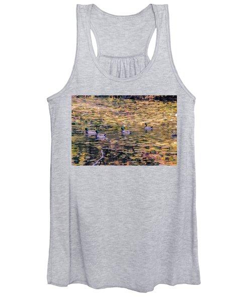 Mallards On Autumn Pond Women's Tank Top