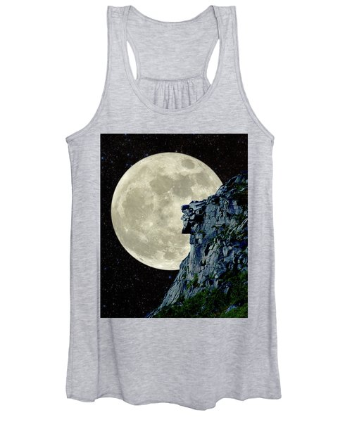 Man In The Moon Meets Old Man Of The Mountain Vertical Women's Tank Top