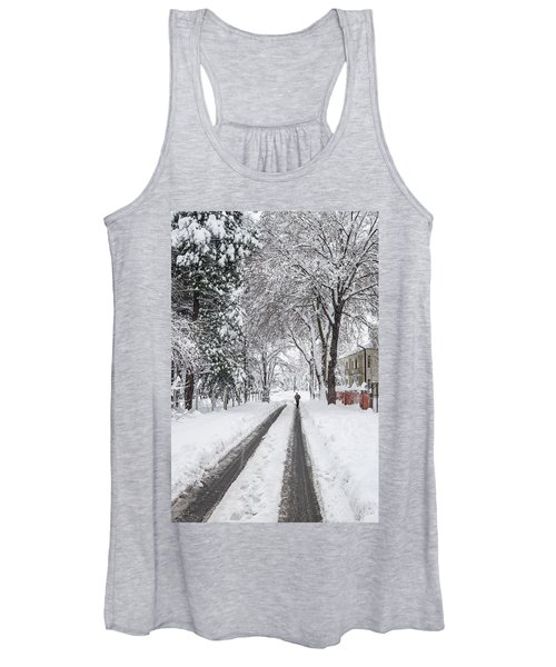 Man On The Road Women's Tank Top