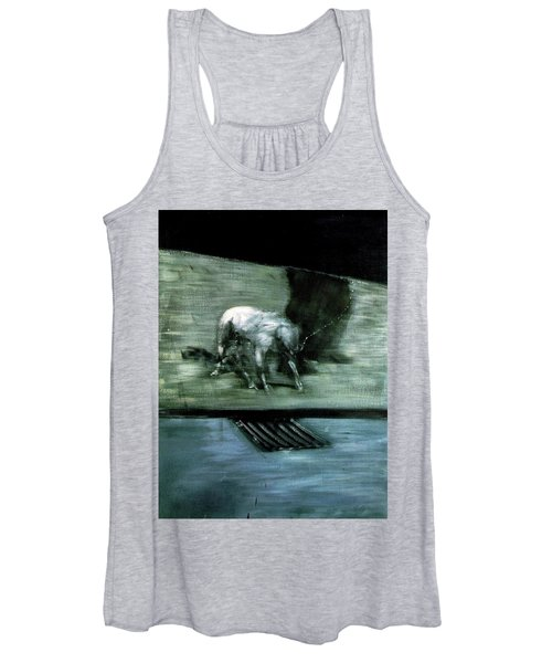 Man With Dog  Women's Tank Top