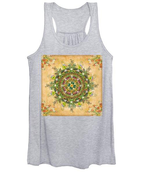 Mandala Flora Women's Tank Top