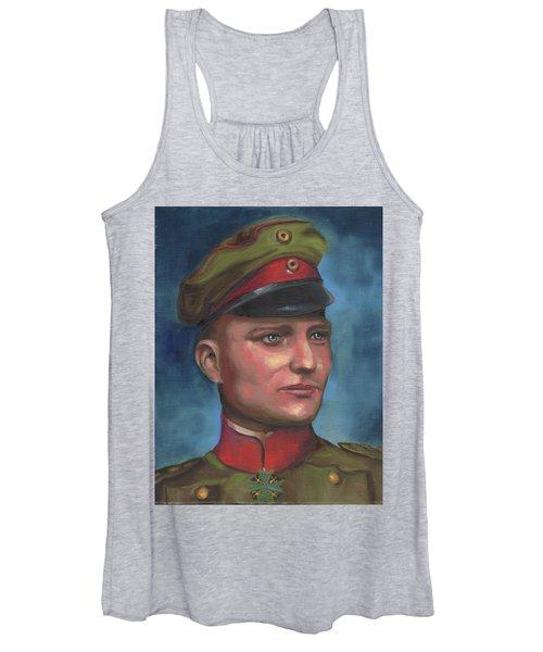 Manfred Von Richthofen The Red Baron Women's Tank Top