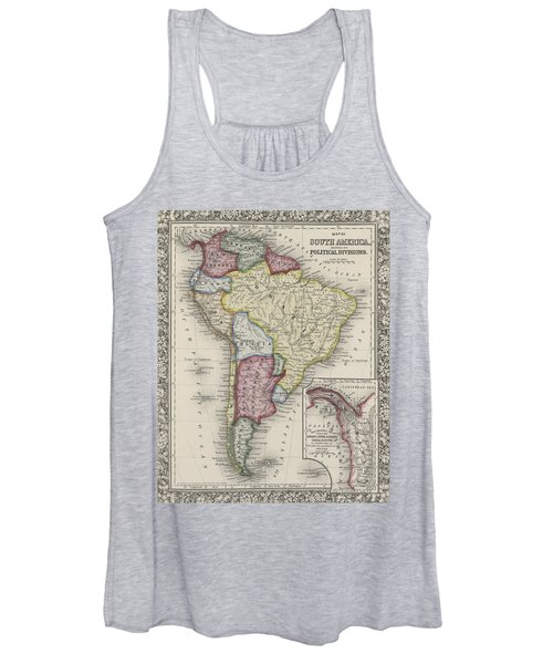 Map Of South America Women's Tank Top