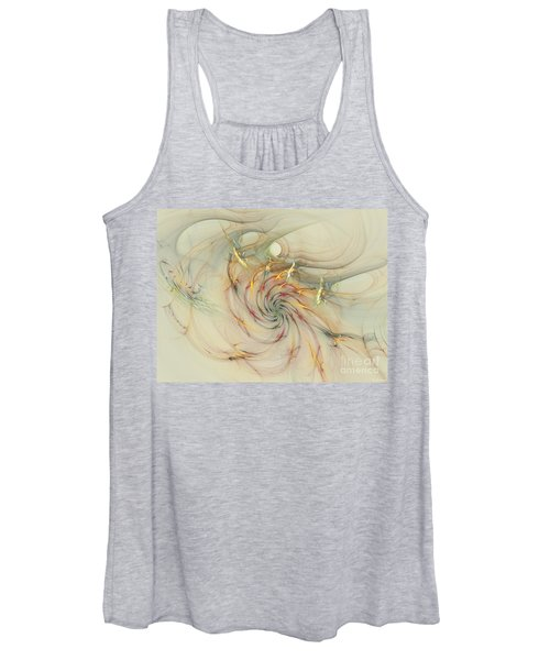 Marble Spiral Colors Women's Tank Top
