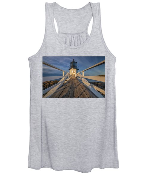 Marshall Point Lighthouse At Sunrise Women's Tank Top