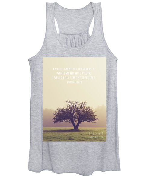 Martin Luther Apple Tree Quote Women's Tank Top