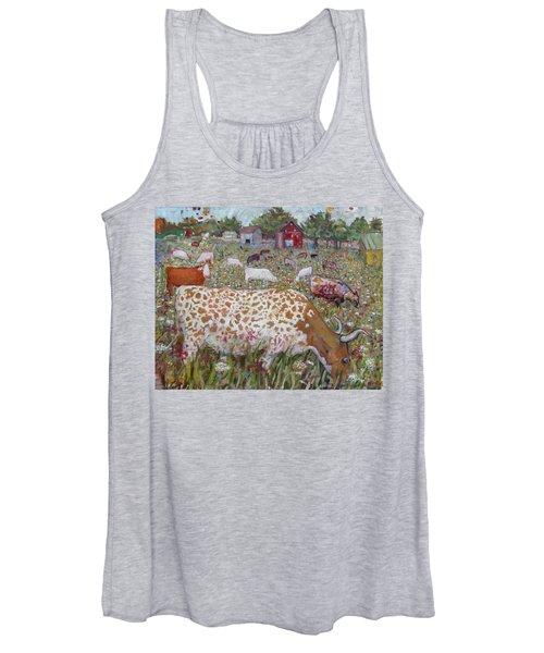 Meadow Farm Cows Women's Tank Top
