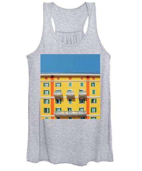 Mediterranean Colours On Building Facade Women's Tank Top
