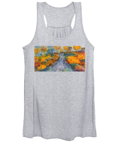 Memories Of Home In Autumn Women's Tank Top