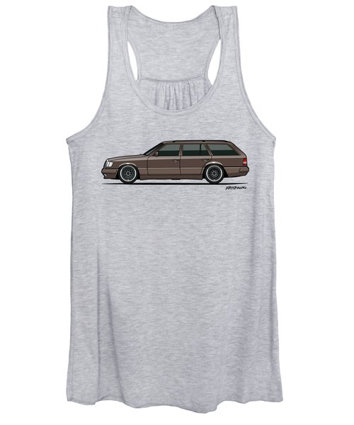 Mercedes Benz W124 E-class 300te Wagon - Anthracite Grey Women's Tank Top