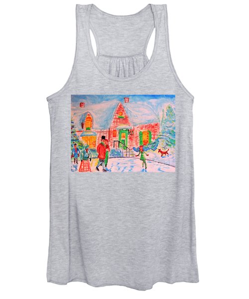 Merry Christmas And Happy Holidays Women's Tank Top