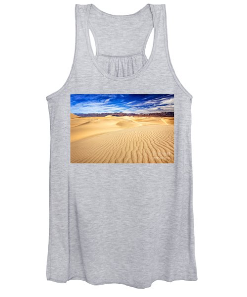 Mesquite Flat Sand Dunes In Death Valley Women's Tank Top