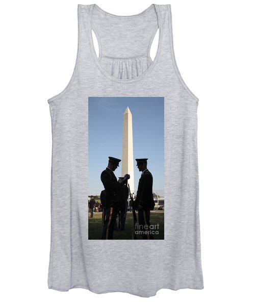Military Ceremony At The Washington Monument Women's Tank Top