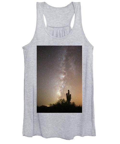 Milky Way And Saguaro Cactus Women's Tank Top