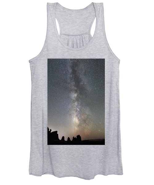 Milky Way Over Arches Np Two Women's Tank Top