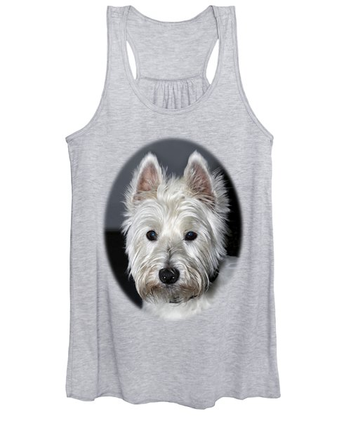 Mischievous Westie Dog Women's Tank Top