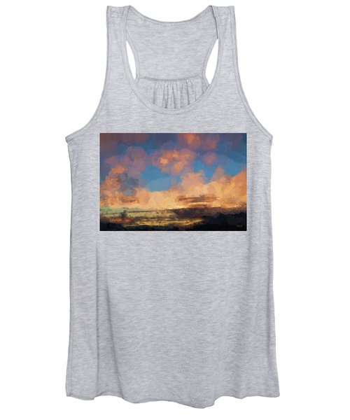 Moab Sunrise Abstract Painterly Women's Tank Top