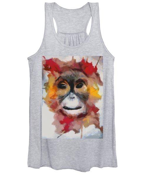 Monkey Splat Women's Tank Top