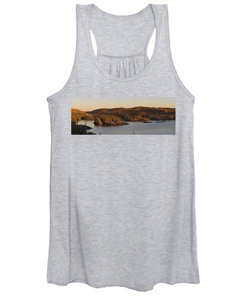 Moon Rise Over Pukaskwa Women's Tank Top