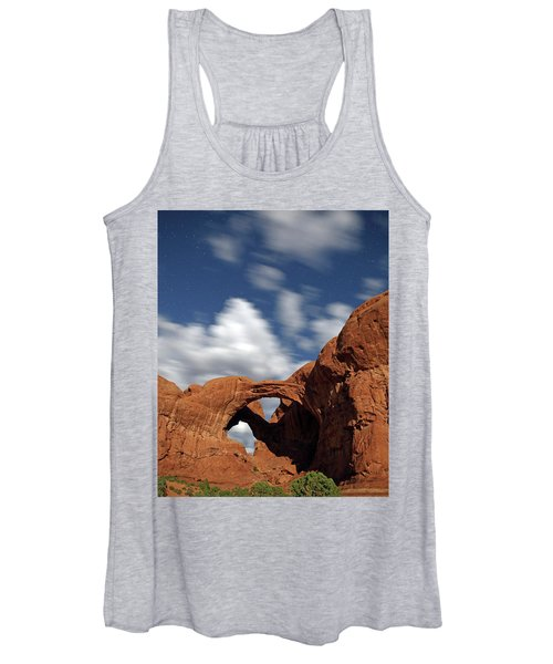 Moonlight On Double Arch In Arches Np Women's Tank Top