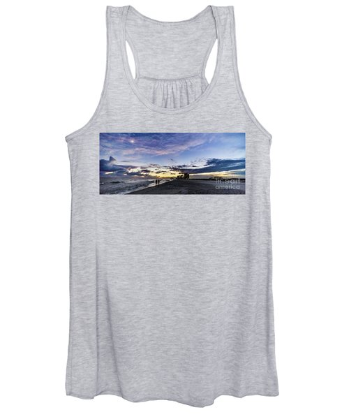 Moonlit Beach Sunset Seascape 0272c Women's Tank Top