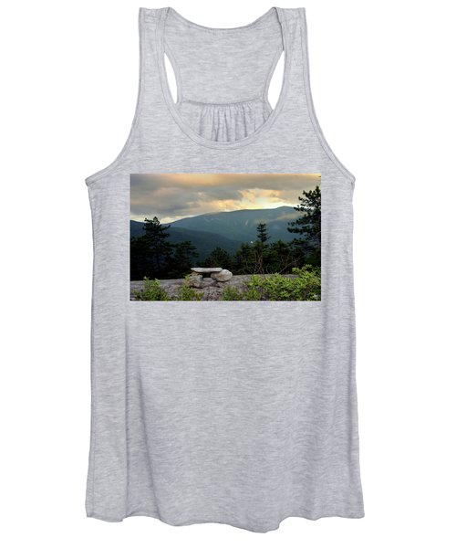 Moosilaukee View From Bench On Blueberry Mt. Women's Tank Top