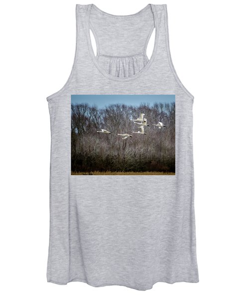 Morning Flight Of Tundra Swan Women's Tank Top