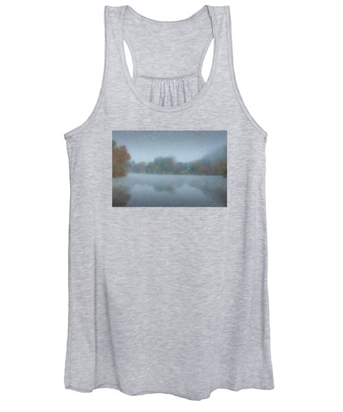 Morning Mist On Langwater Pond Women's Tank Top