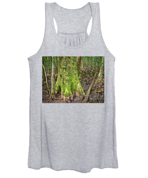 Women's Tank Top featuring the photograph Mossy Cypress by Michael Colgate