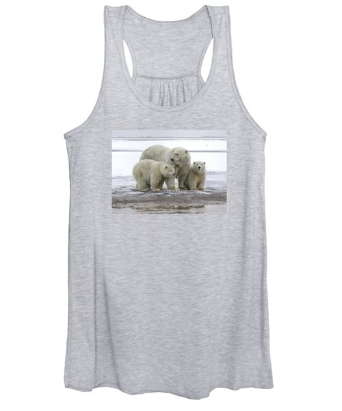 Mother And Cubs In The Arctic Women's Tank Top
