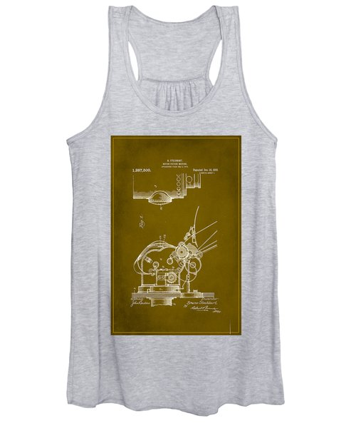 Motion Picture Machine Patent Drawing 1a Women's Tank Top