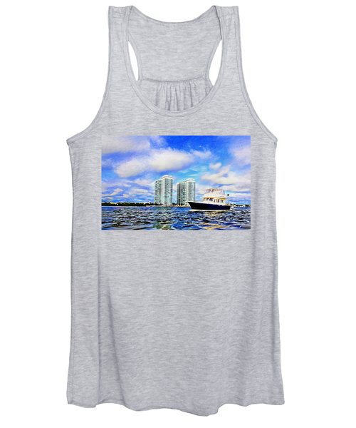 Motoring Past The Marina Grande Women's Tank Top