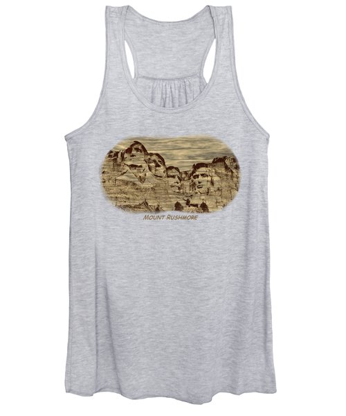 Mount Rushmore Woodburning 2 Women's Tank Top