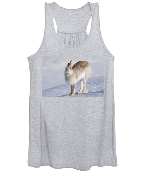 Mountain Hare In The Snow - Lepus Timidus  #2 Women's Tank Top