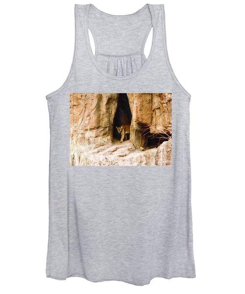 Mountain Lion In The Desert Women's Tank Top