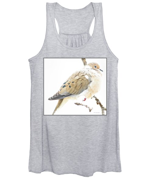 Mourning Dove, Snowy Morning Women's Tank Top