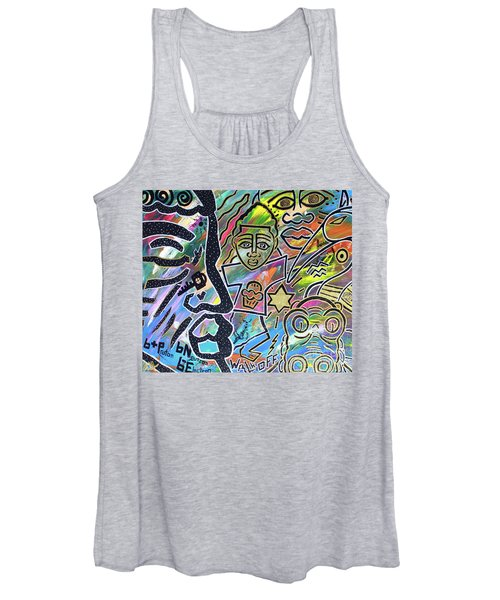 Multi-dimensional Beings Stepping Out The Body Walking Through The Cosmos Women's Tank Top