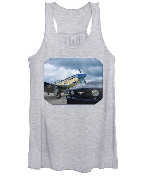 Mustang Gt With P51 Women's Tank Top