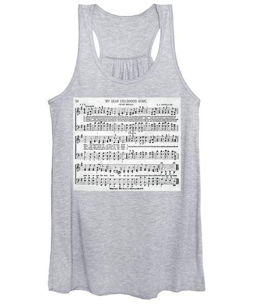 My Dear Childhood Home Musical Score Women's Tank Top